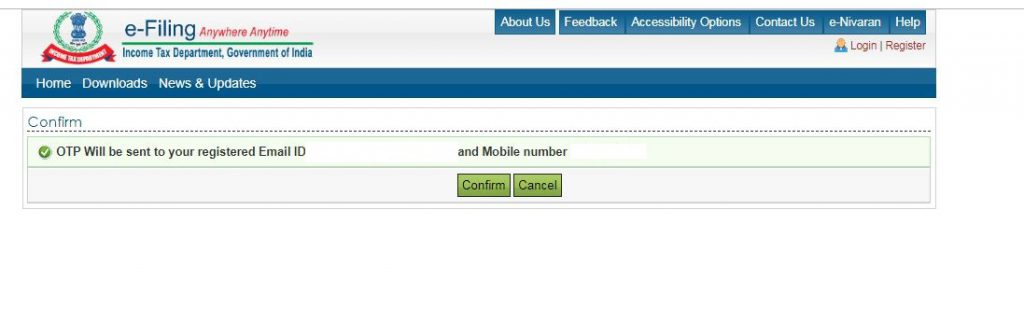 Reset e-Filing Account Password: Secret Answer: Mobile-email