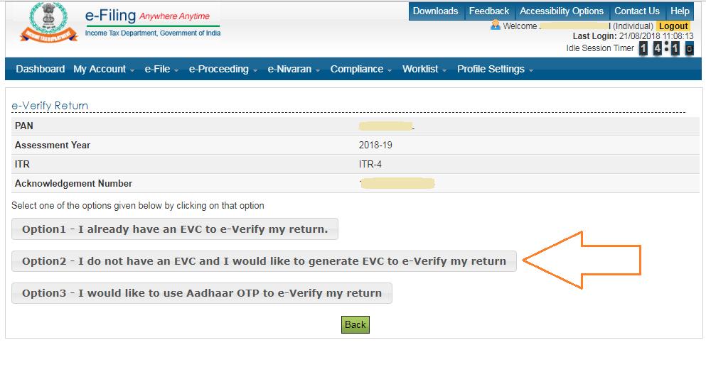 e-verify-ITR-options