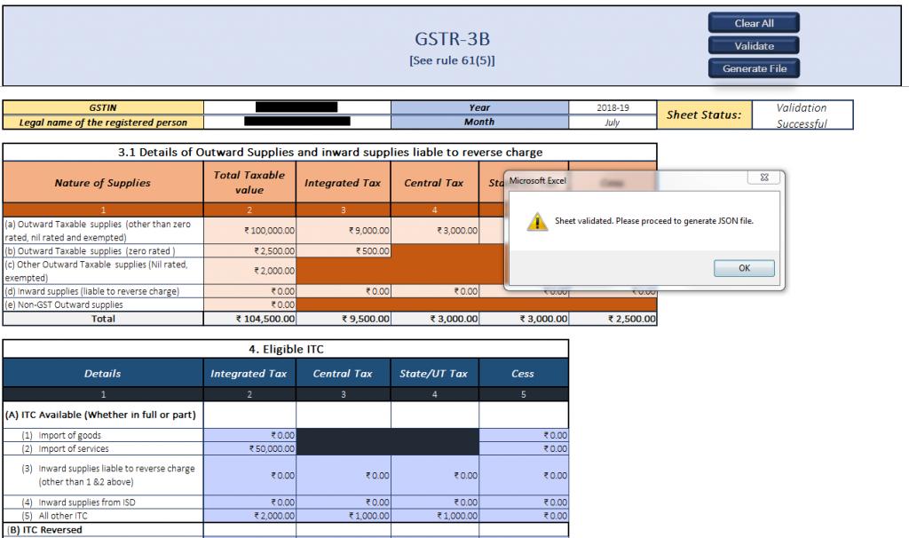 File GSTR-3B Offline Tool
