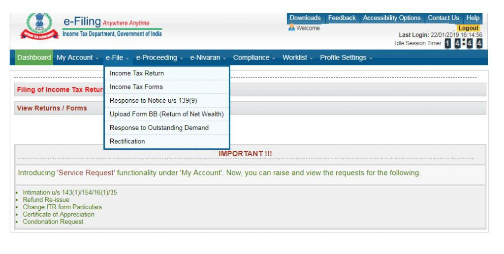 how to file itr-1-select itr