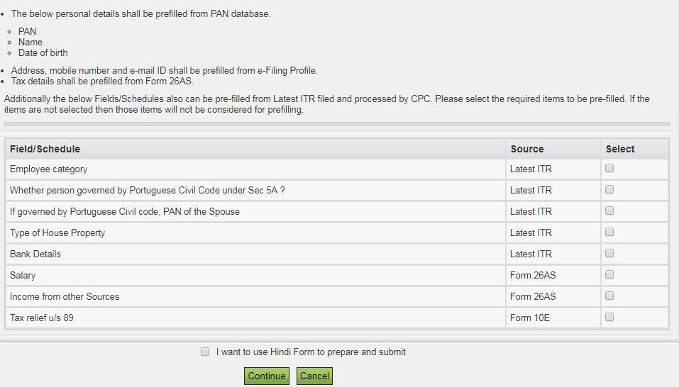 How to file ITR-1-Prefilled data