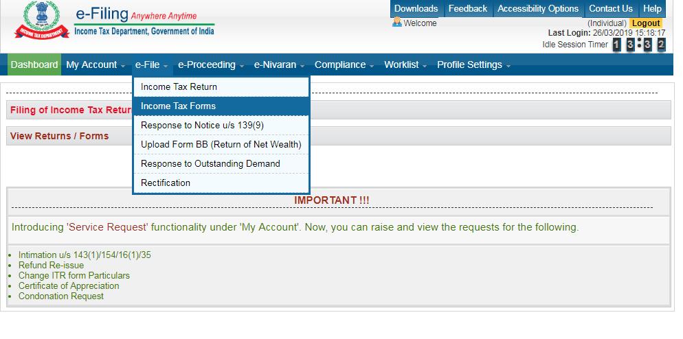 Form-10BA: IT Form e-Filing process