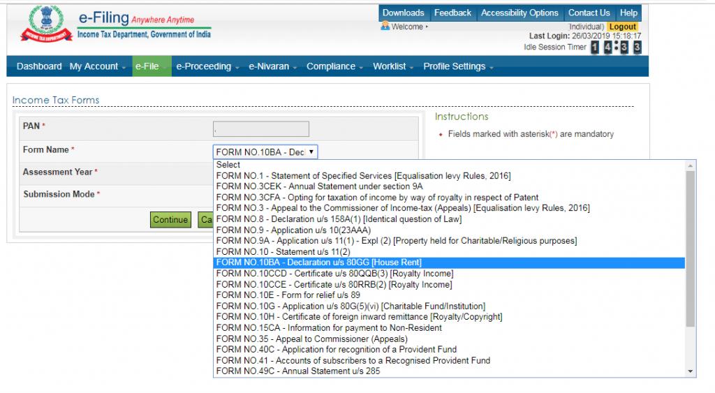 Form-10BA filing Select-Form