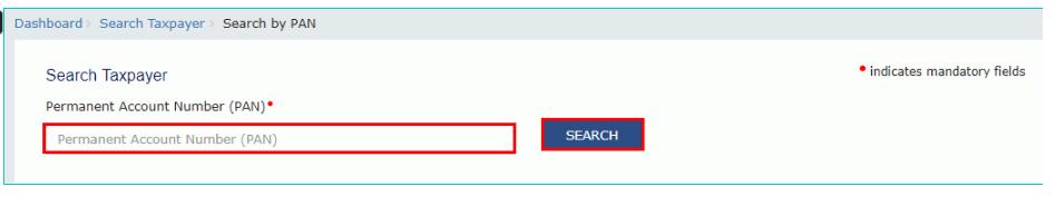 GST Portal - Search by PAN