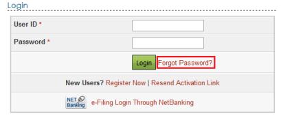 e-Filing Platform Login Page